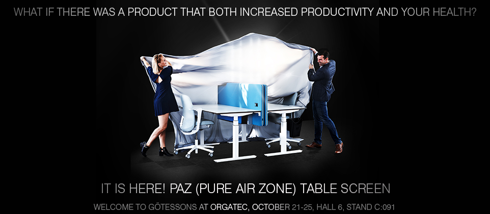 Launch of Götessons PAZ - Pure Air Zone® Desk Screens