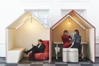 The Hut är en lösning för att skapa ett eget rum i rummet.